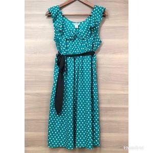 Motherhood Maternity Green Polka Dot Dress